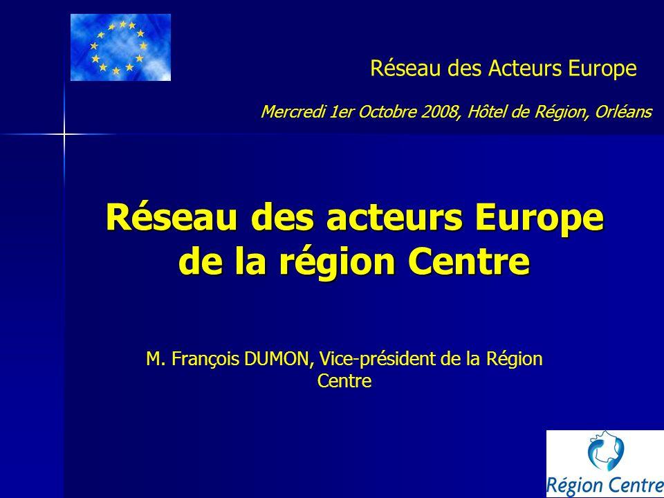 Réseau des acteurs Europe de la région Centre
