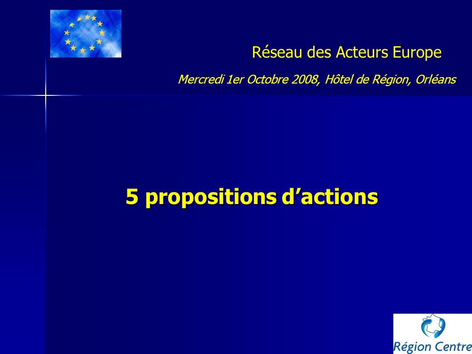 5 propositions d'actions