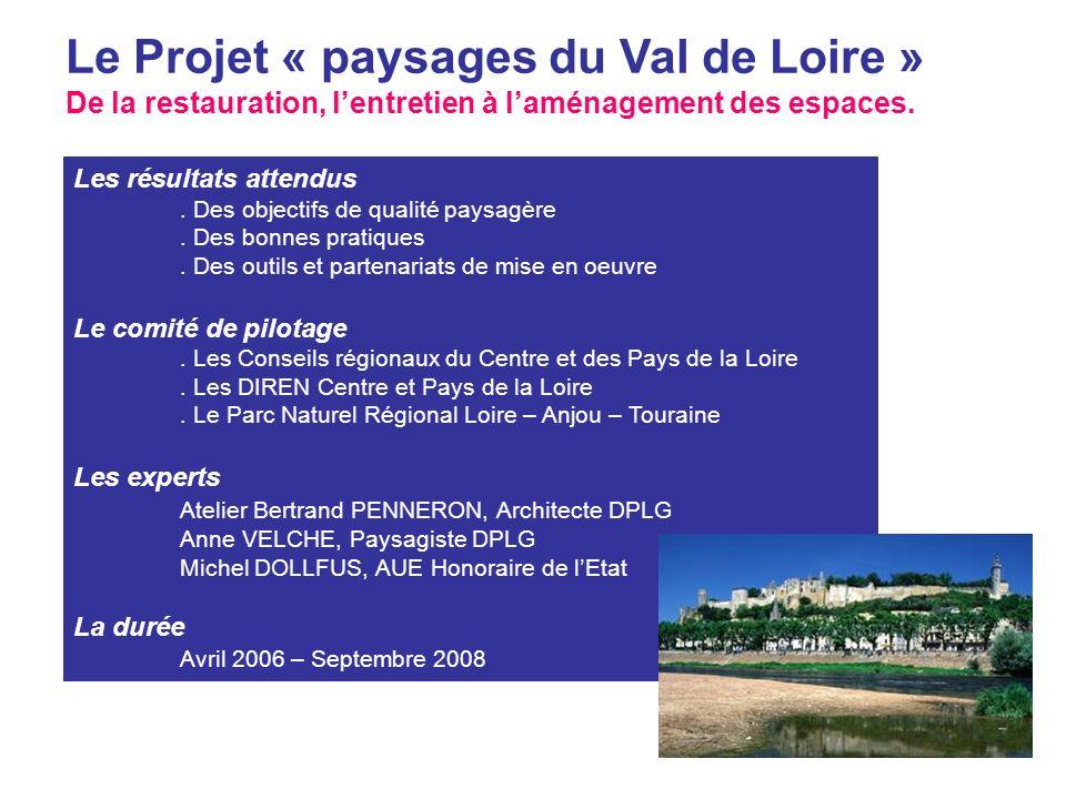 Le Projet « paysages du Val de Loire »