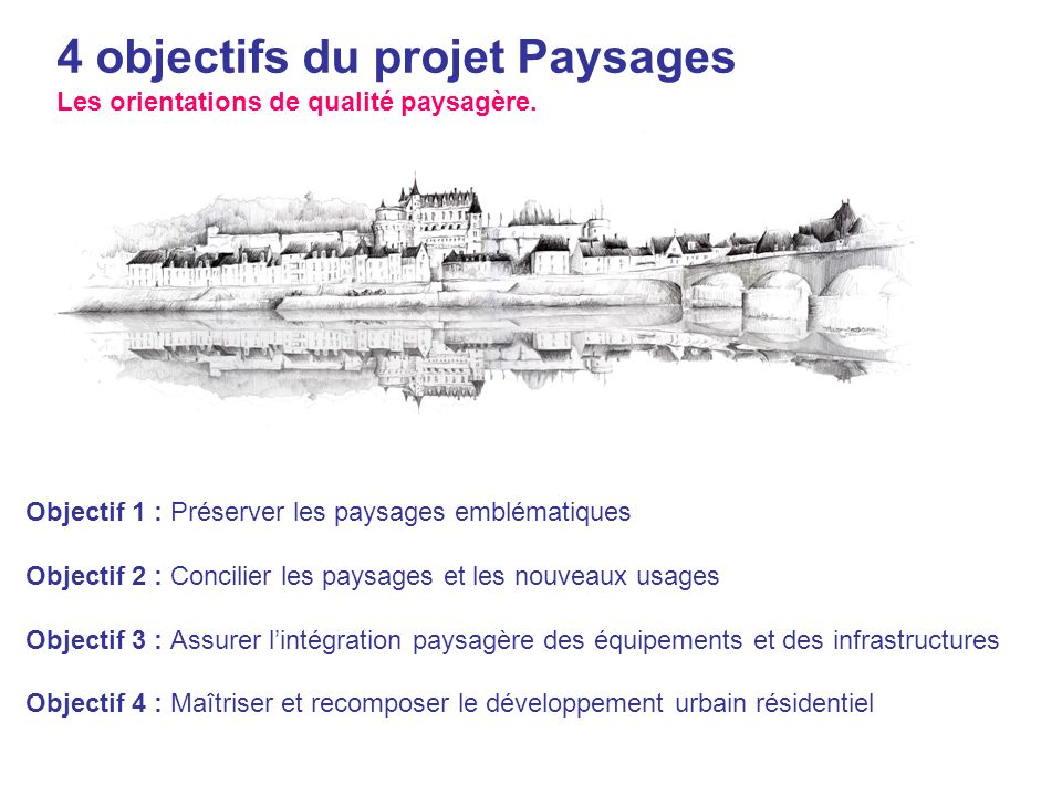 4 objectifs du projet Paysages