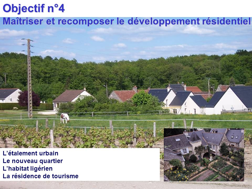 Objectif n°4 Maîtriser et recomposer le développement résidentiel