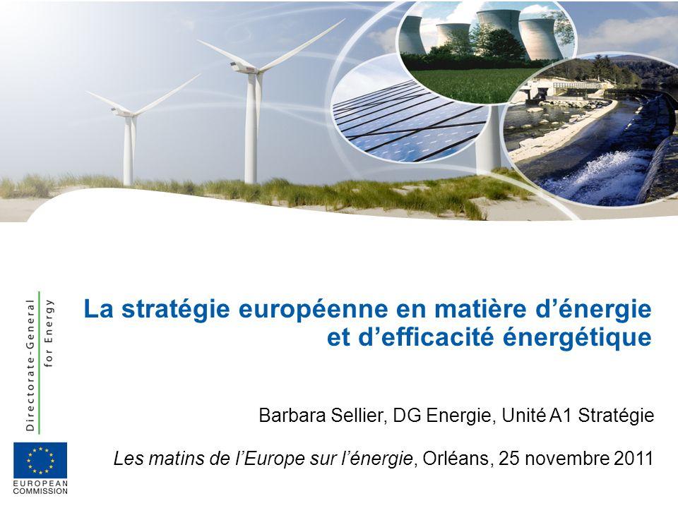 La stratégie européenne en matière d'énergie et d'efficacité énergétique