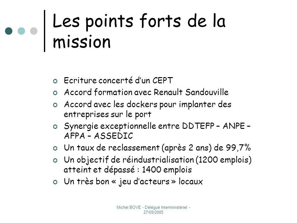 Les points forts de la mission