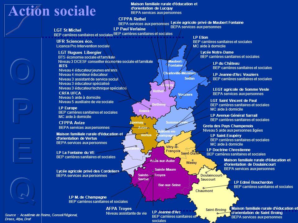 Action sociale CFPPA Rethel LP Paul Verlaine LGT St Michel