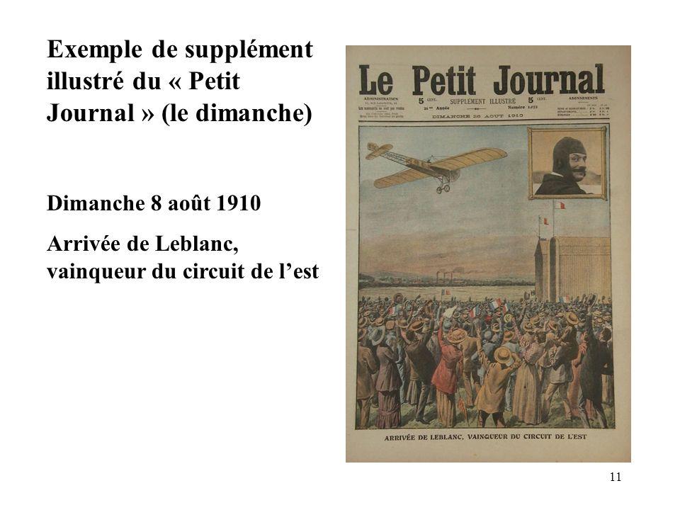 Exemple de supplément illustré du « Petit Journal » (le dimanche)