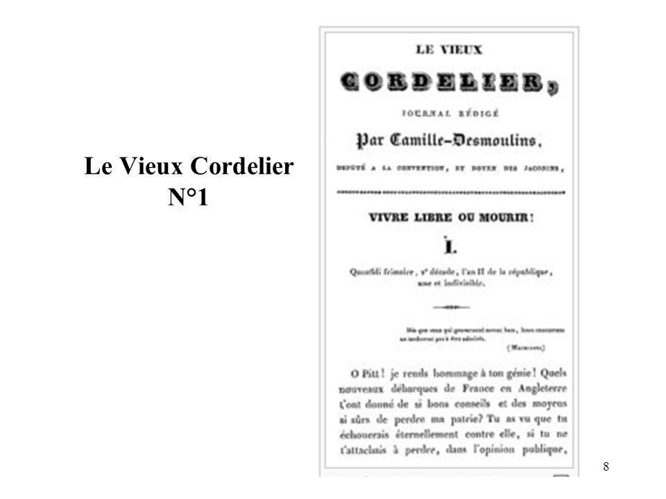 Le Vieux Cordelier N°1