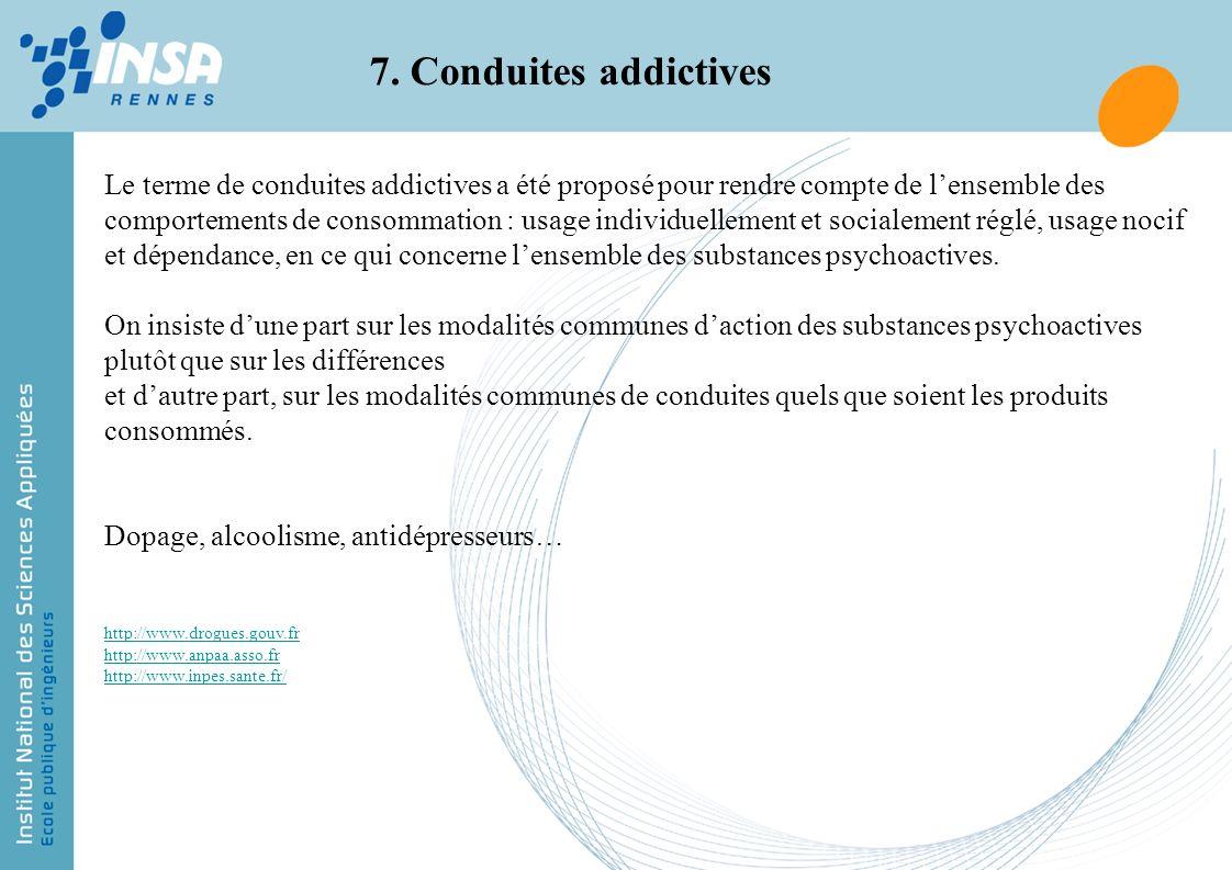 7. Conduites addictives