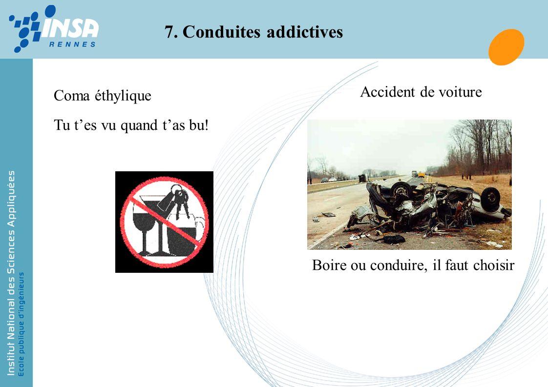 7. Conduites addictives Accident de voiture Coma éthylique