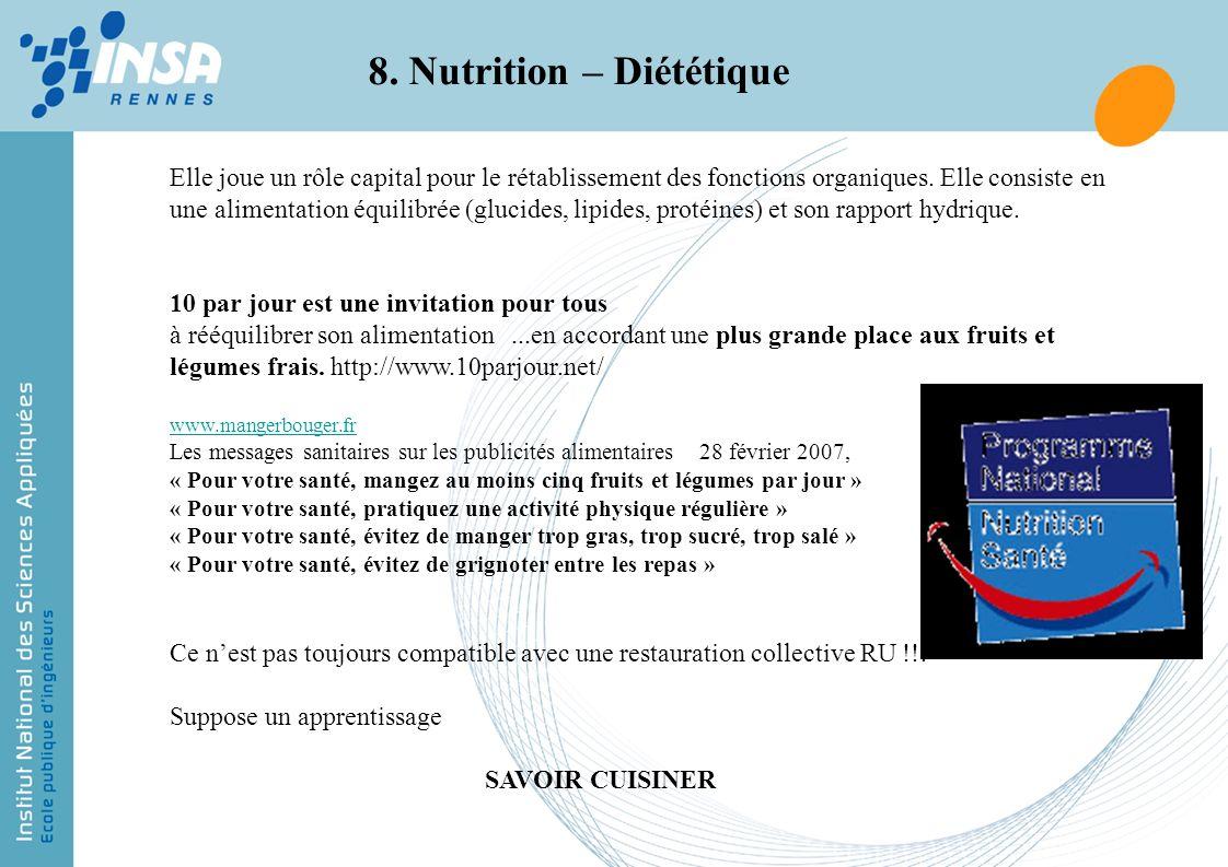 8. Nutrition – Diététique