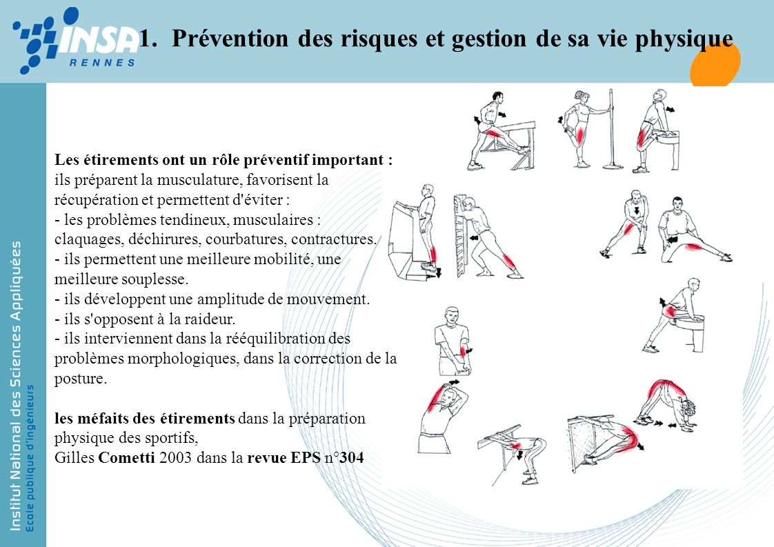 Prévention des risques et gestion de sa vie physique