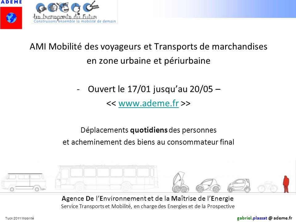 AMI Mobilité des voyageurs et Transports de marchandises