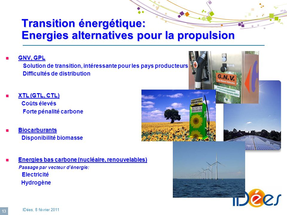 Transition énergétique: Energies alternatives pour la propulsion