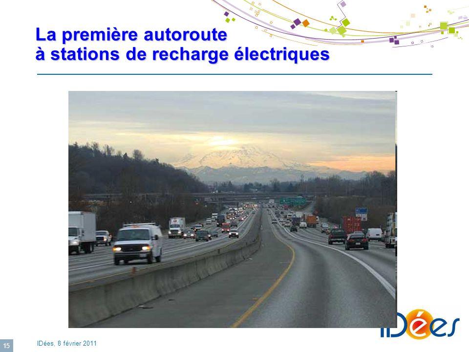 La première autoroute à stations de recharge électriques
