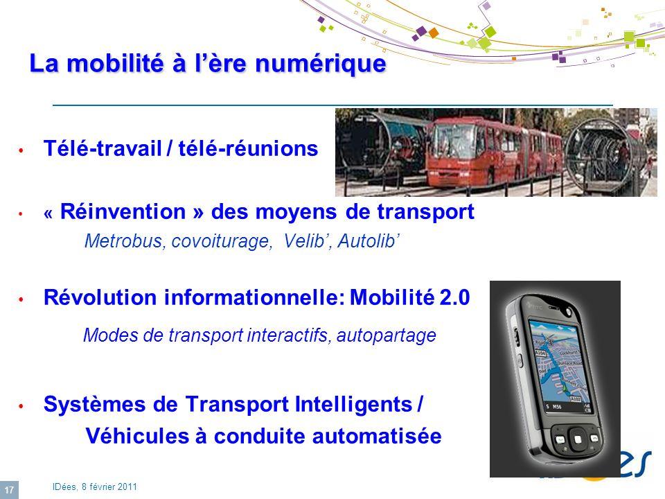La mobilité à l'ère numérique