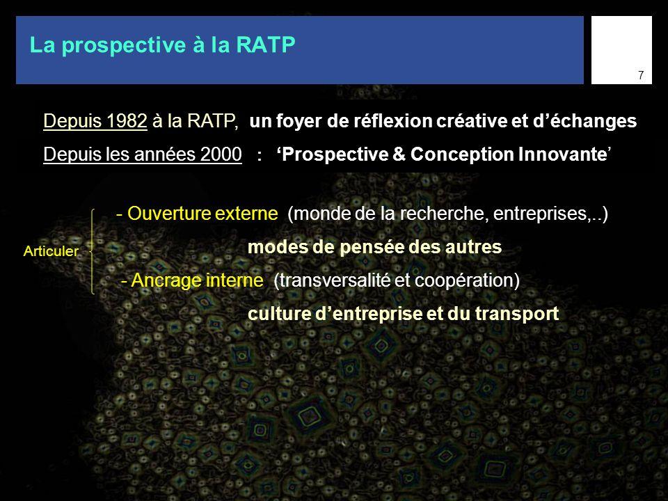 La prospective à la RATP