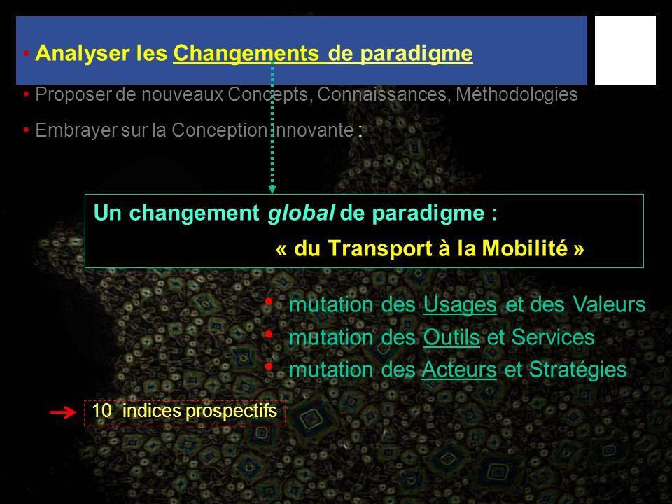 Un changement global de paradigme : « du Transport à la Mobilité »