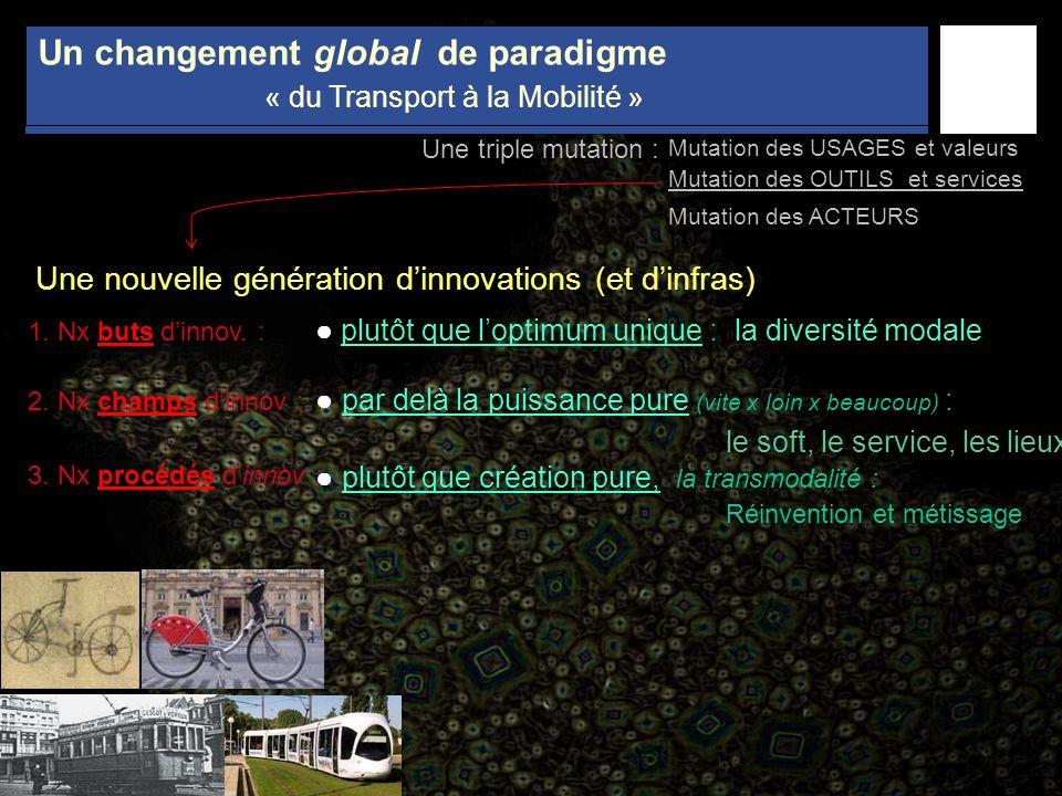 Un changement global de paradigme « du Transport à la Mobilité »