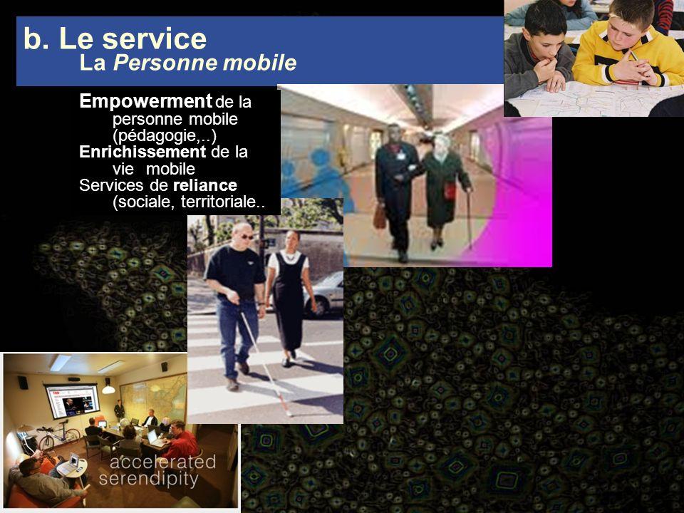 b. Le service La Personne mobile