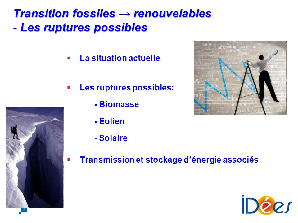 Transition fossiles → renouvelables - Les ruptures possibles