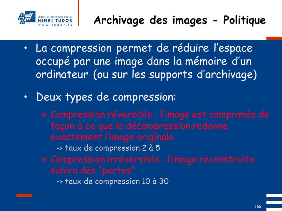 Archivage des images - Politique