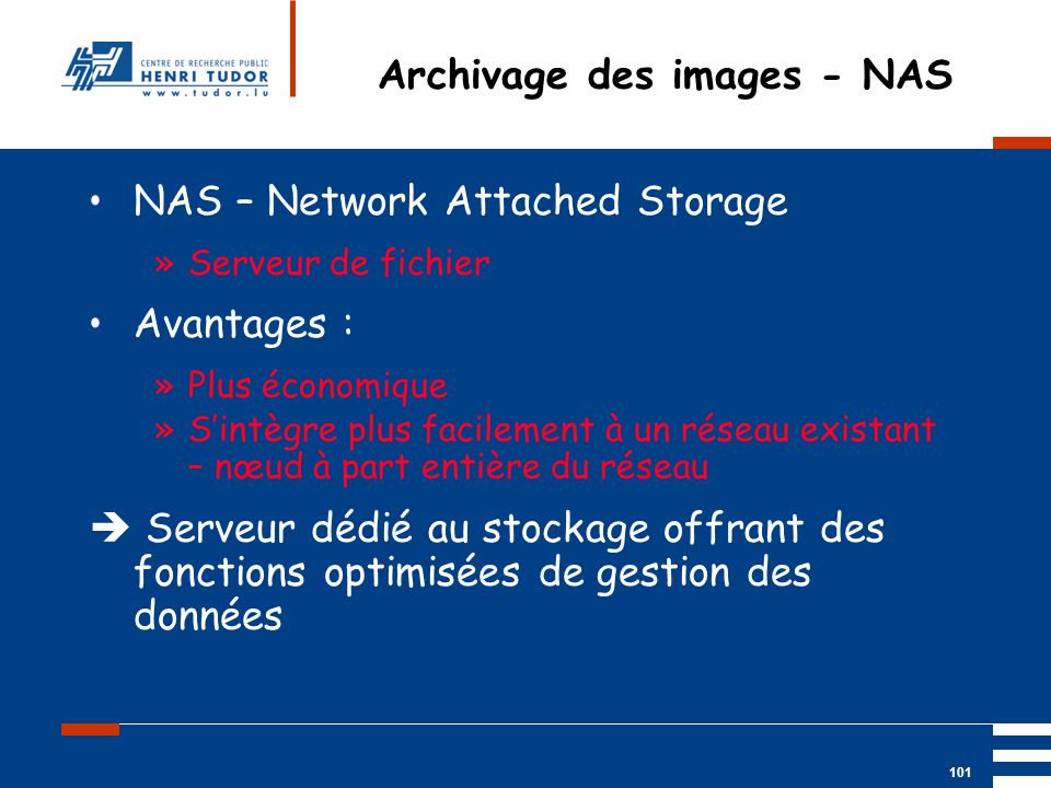 Archivage des images - NAS