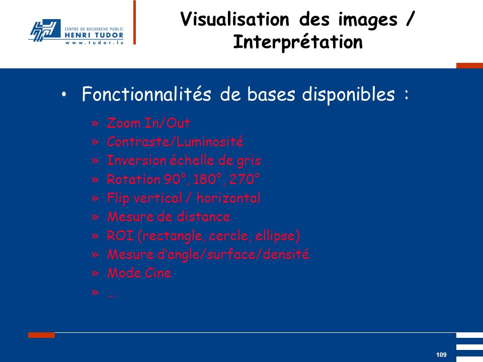 Visualisation des images / Interprétation