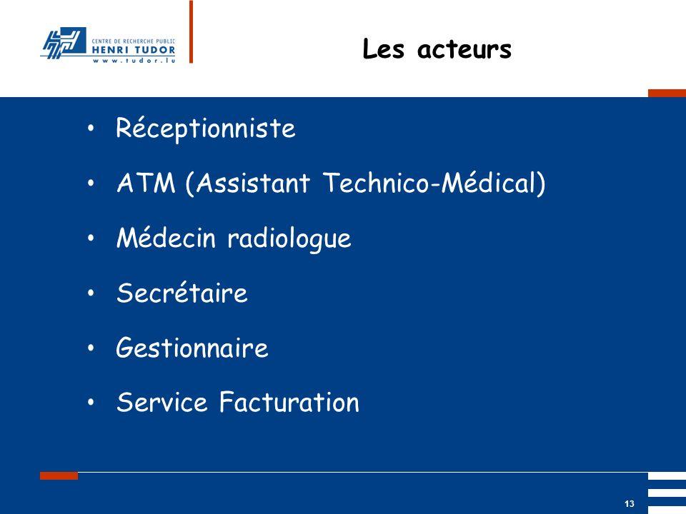 ATM (Assistant Technico-Médical) Médecin radiologue Secrétaire