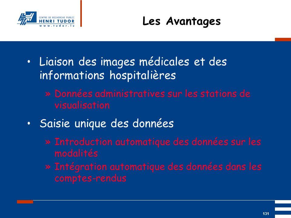 Liaison des images médicales et des informations hospitalières