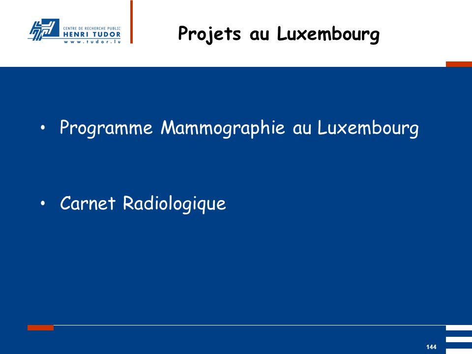 Projets au Luxembourg Programme Mammographie au Luxembourg Carnet Radiologique