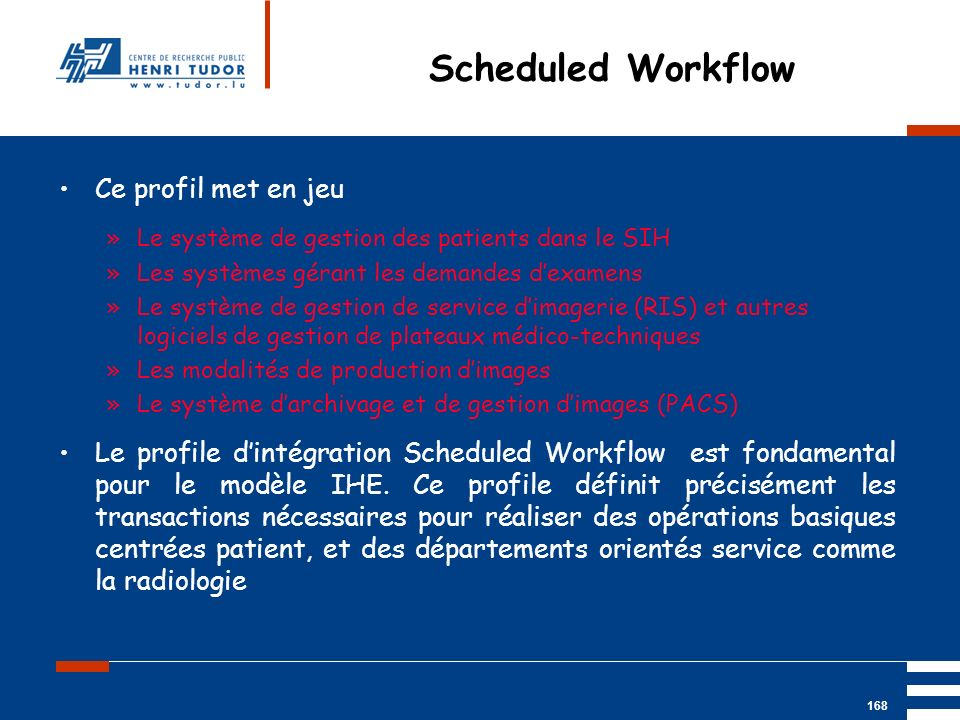 Scheduled Workflow Ce profil met en jeu