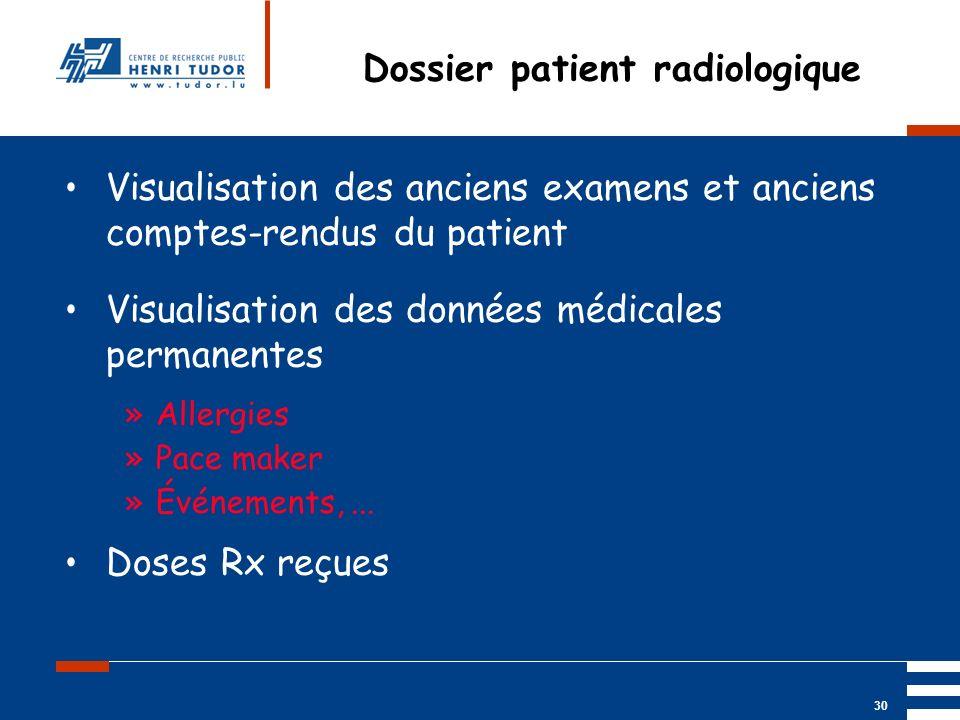 Dossier patient radiologique