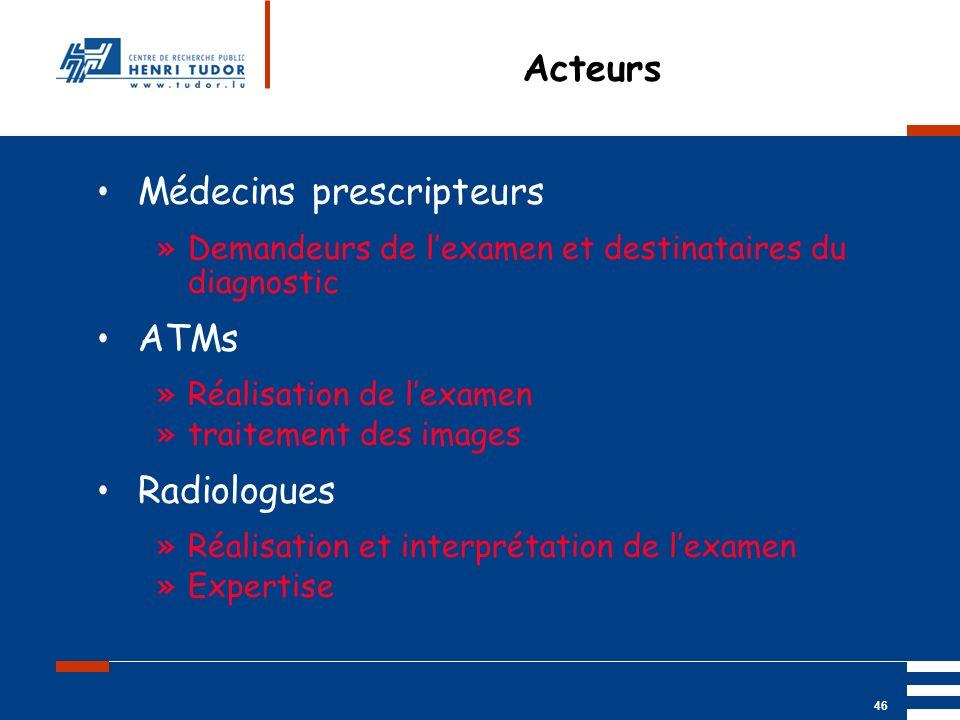 Médecins prescripteurs
