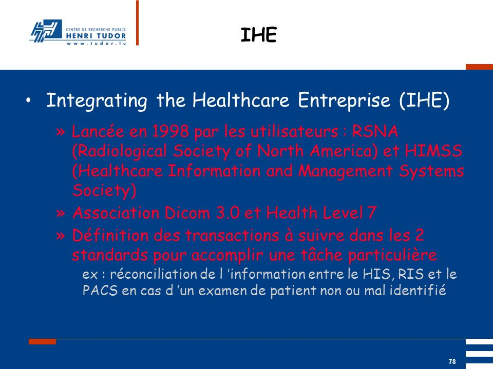 Integrating the Healthcare Entreprise (IHE)