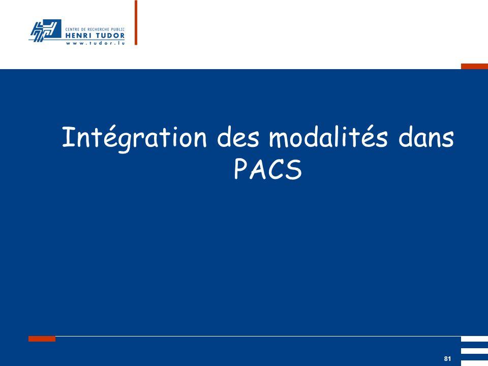 Intégration des modalités dans PACS