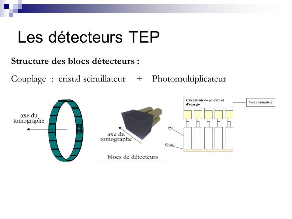 Les détecteurs TEP Structure des blocs détecteurs :