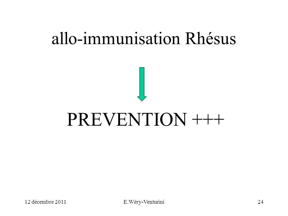 allo-immunisation Rhésus