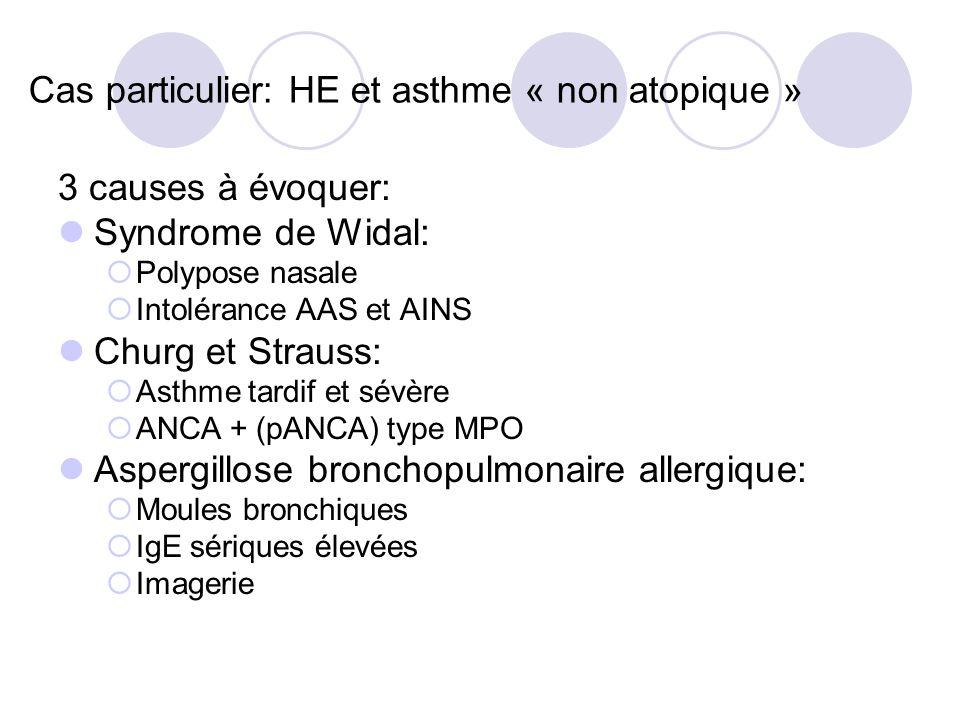 Cas particulier: HE et asthme « non atopique »