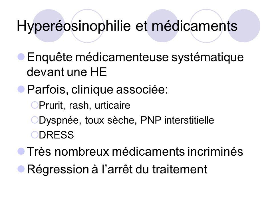 Hyperéosinophilie et médicaments