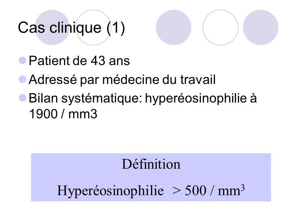 Hyperéosinophilie > 500 / mm3