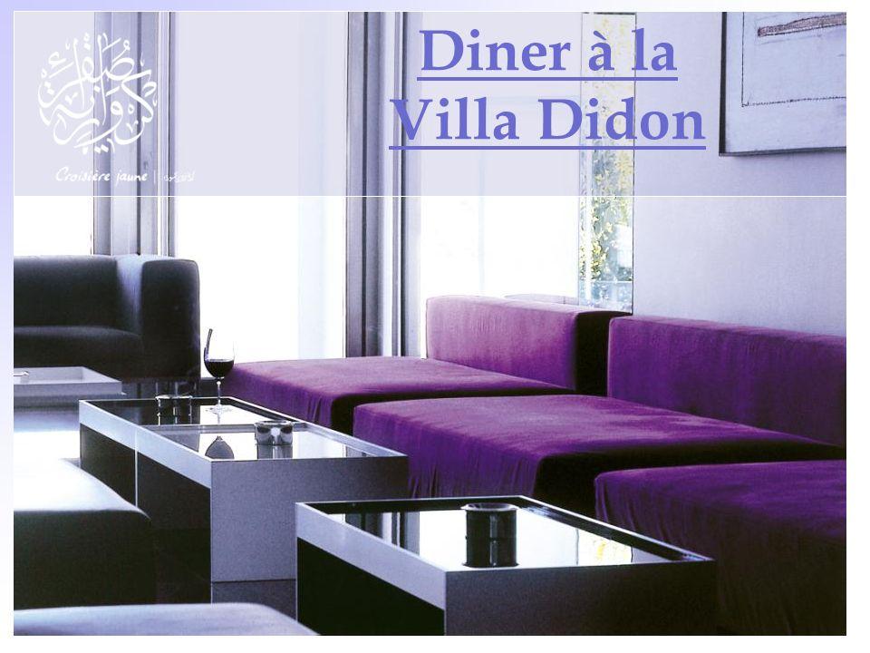 Diner à la Villa Didon