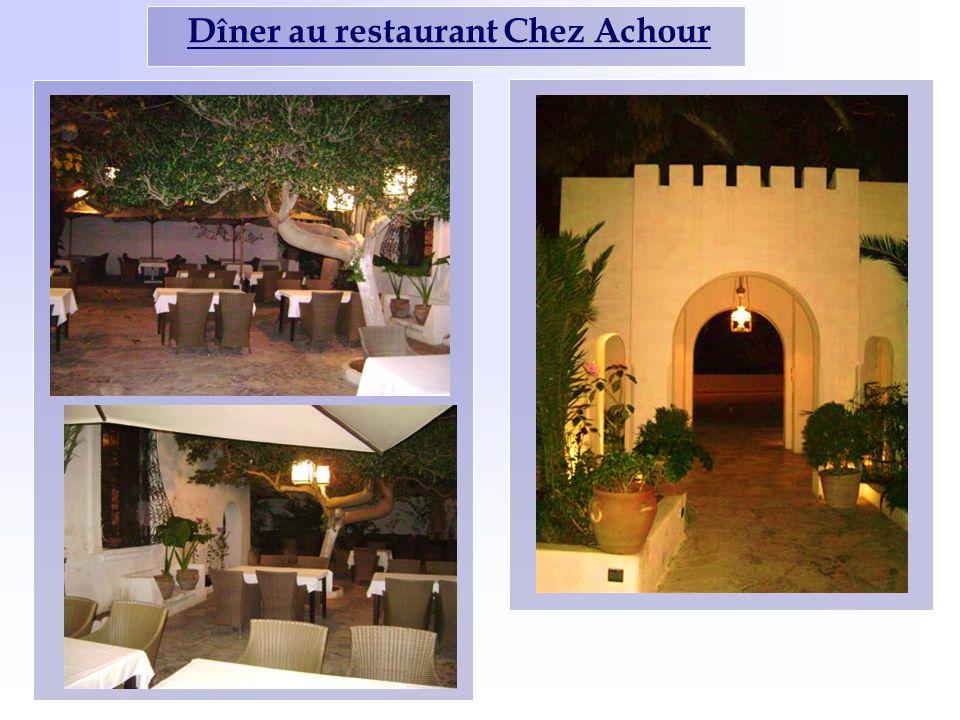 Dîner au restaurant Chez Achour