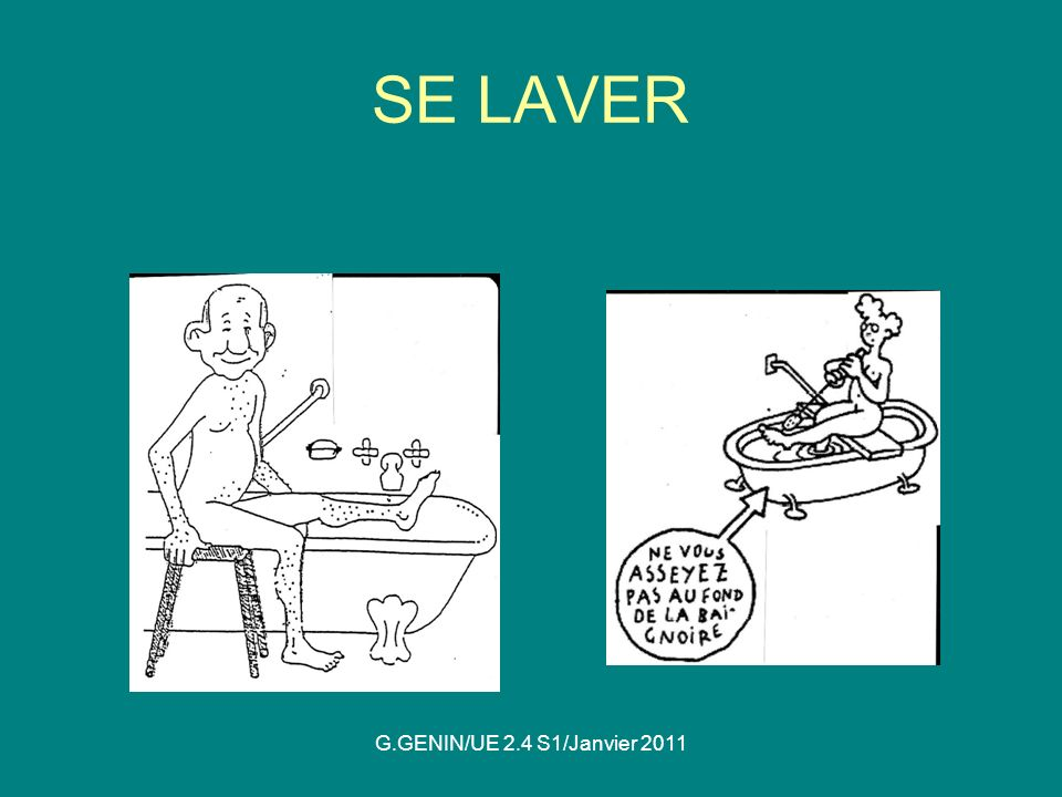 SE LAVER G.GENIN/UE 2.4 S1/Janvier 2011