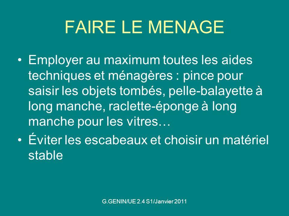 FAIRE LE MENAGE