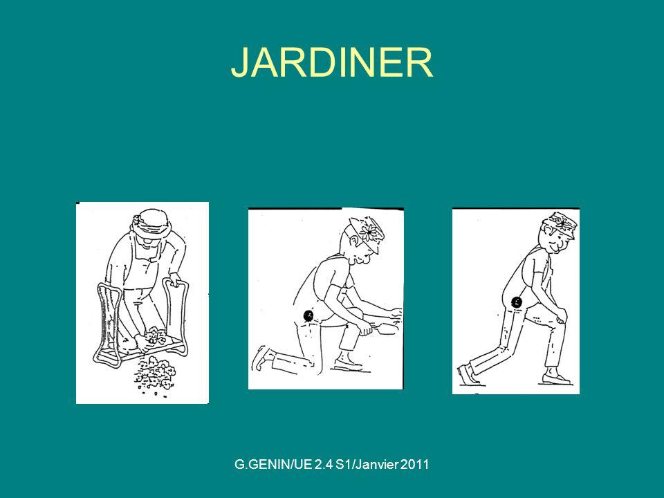 JARDINER G.GENIN/UE 2.4 S1/Janvier 2011