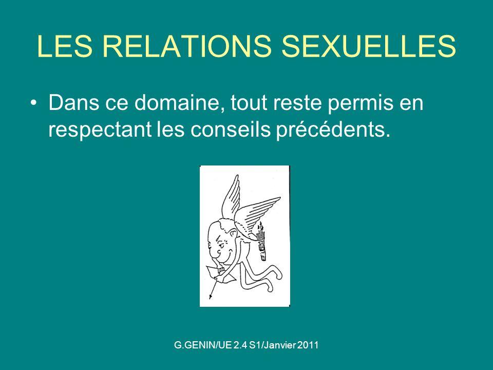LES RELATIONS SEXUELLES