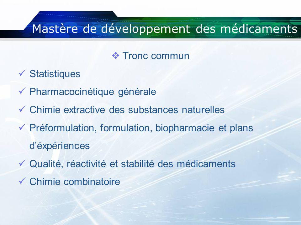 Mastère de développement des médicaments