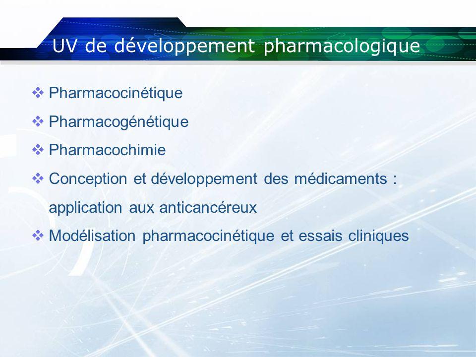 UV de développement pharmacologique