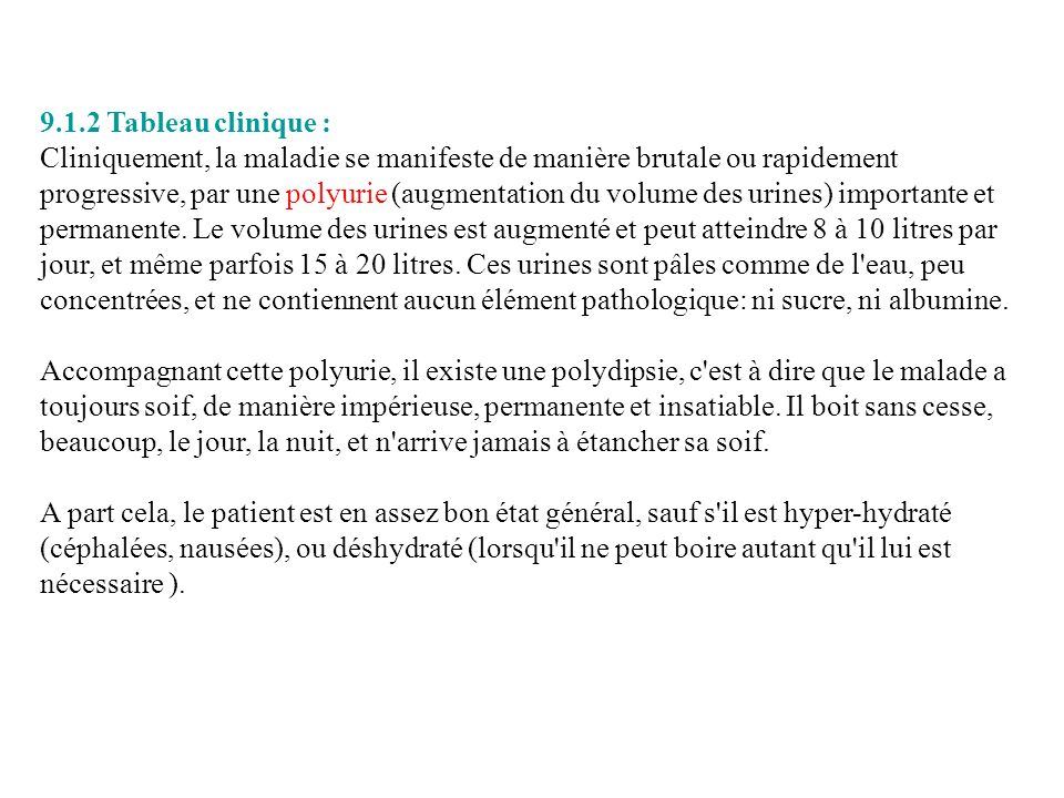 9.1.2 Tableau clinique :