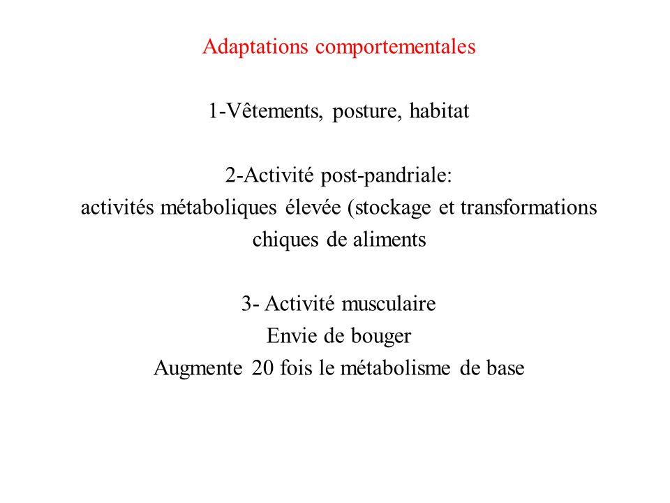 Adaptations comportementales 1-Vêtements, posture, habitat