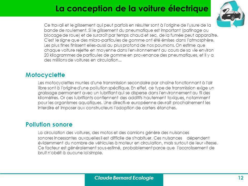 La conception de la voiture électrique